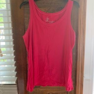 Pink ribbed tank top-size 14/16